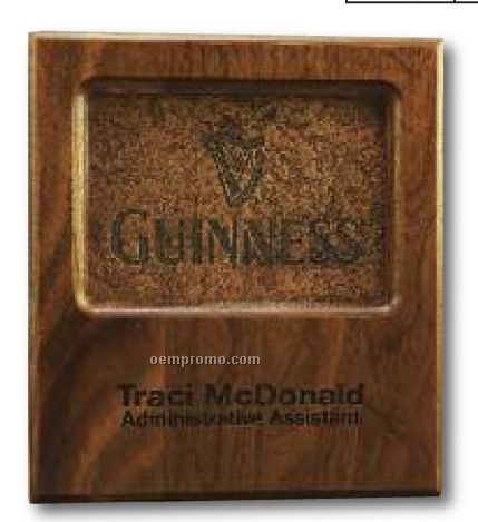Stone Inset And Walnut Plaque
