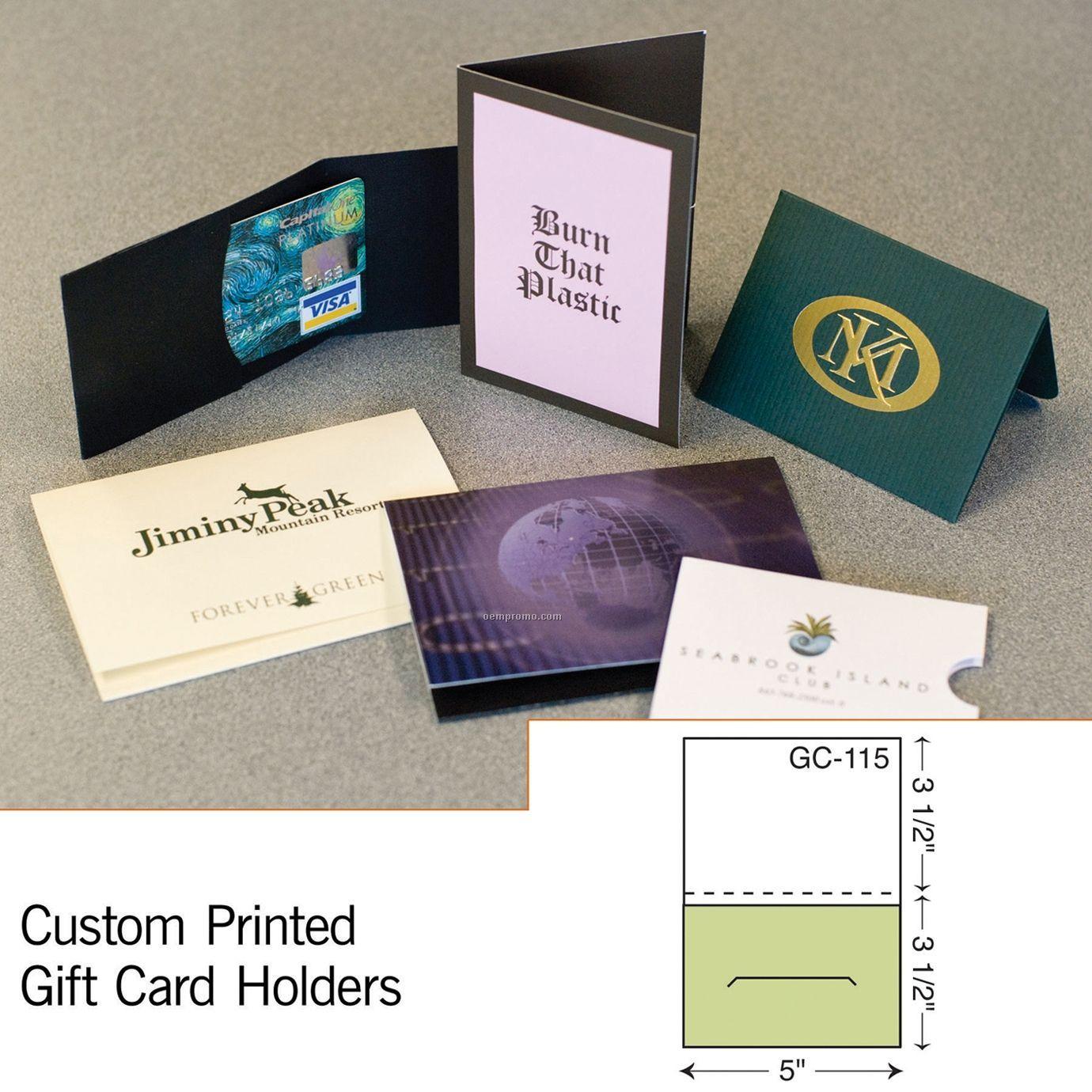 Card Holder W/ Reinforced Panel (1 Color/1 Side)