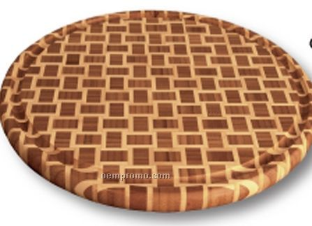 Geo Round Cutting Board With Groove