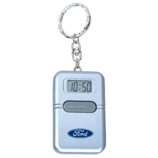 Key Ring With Talking Alarm Clock