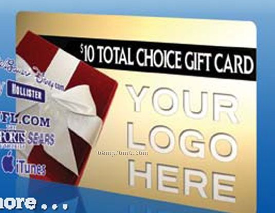 Kmart Custom Branded Total Choice $20.00 Gift Card