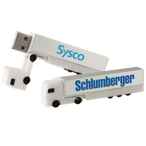 Santiago Pvc Truck USB Flash Drive - 256mb