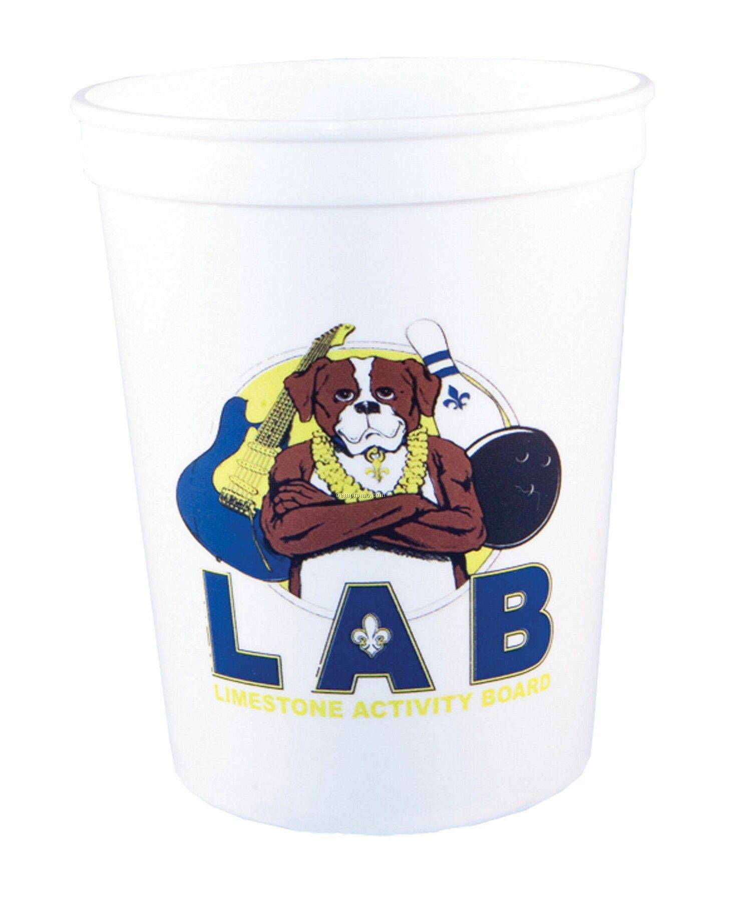 12oz Smooth Stadium Cup W/Full Color Image/Screen Print