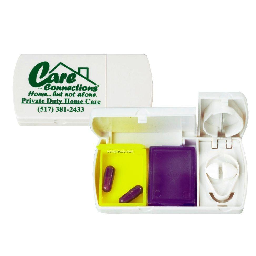 2-color Pill Box W/ Cutter