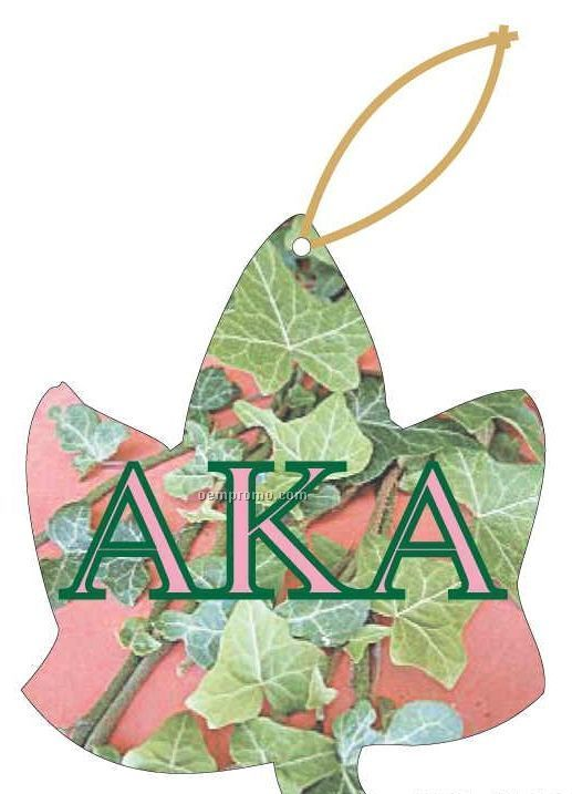 Alpha Kappa Alpha Sorority Ivy Ornament W/ Mirror Back (4 Square Inch)