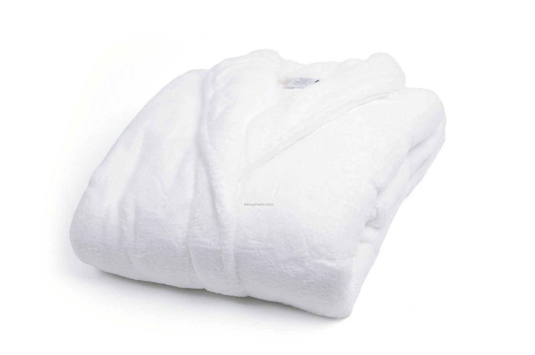 b5d7405289 Coral Fleece Robe In White W  Vinyl Case (S M)