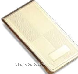 Gold Gilt Plated Metal Money Clip