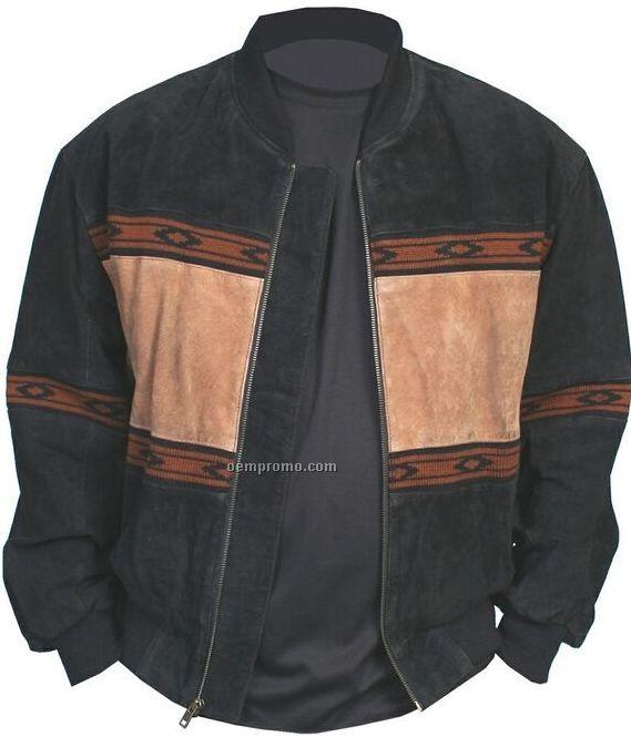 Men's Boar Suede Leather Jacket S-xx-l