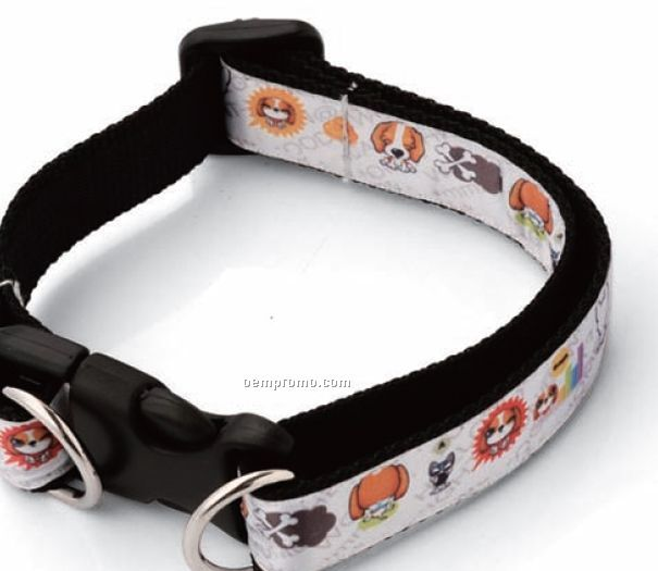 Digital Web Woven Pet Collar (3/4