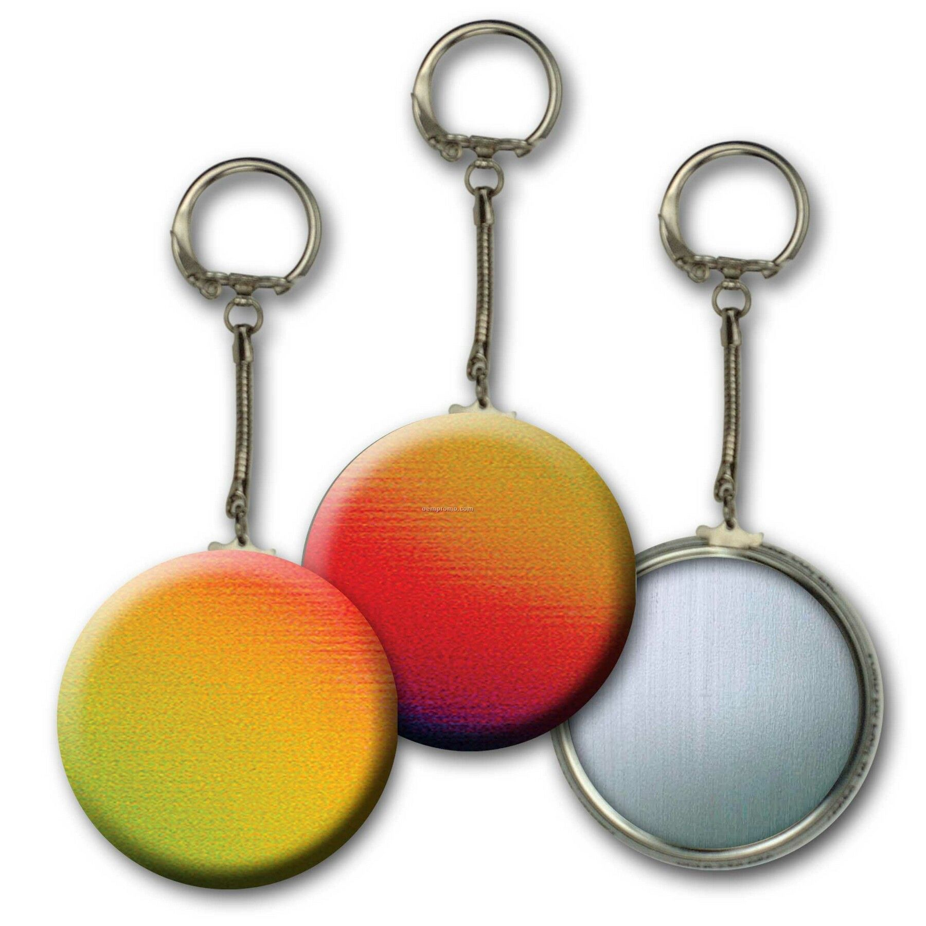 Metallic Key Chain W/3d Lenticular Changing Colors Effects ( Blanks)