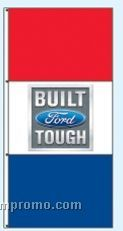 Single Face Dealer Free Flying Drape Flags - Built Ford Tough