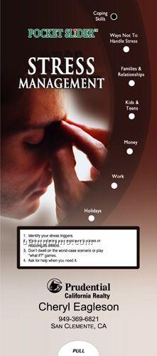 stress management pocket slider chart   brochure china