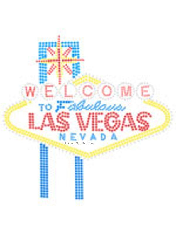 Las Vegas Sign Rhinestone Transfer