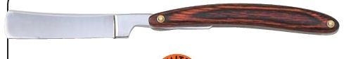 Maxam Folding Straight Razor With Wood Handle