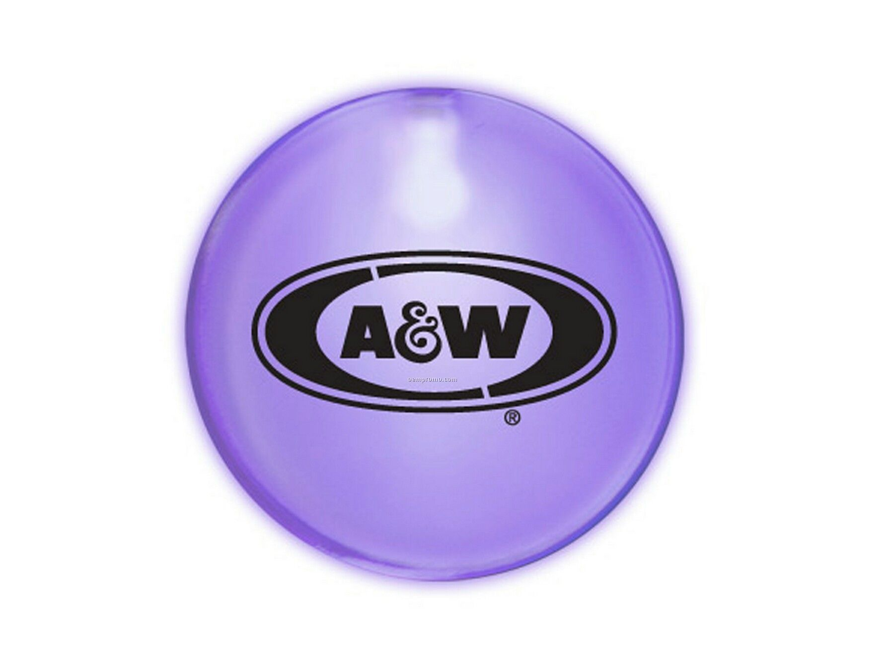 Purple Frosted Glow Button With 7 Or 11 Week Delivery From Art Approval