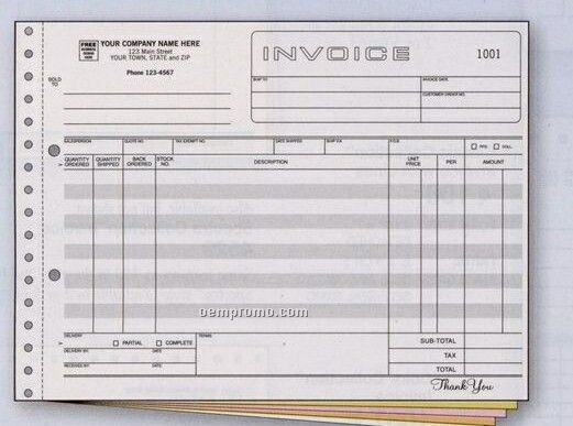 Classic Collection Wide Body Invoice (4 Part)