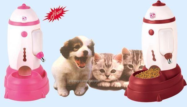 Pet Auto Drinker And Auto Feeder