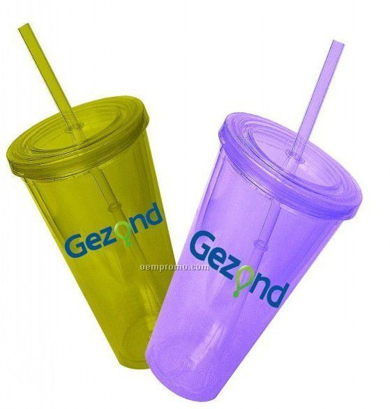 Double-deck Straw Cup