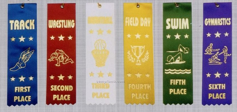 Stock Sports Ribbon (Pinked Top) - Personal Best