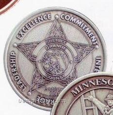"""1-9/16"""" 10 Gauge Nickel Silver Coins & Medallions"""