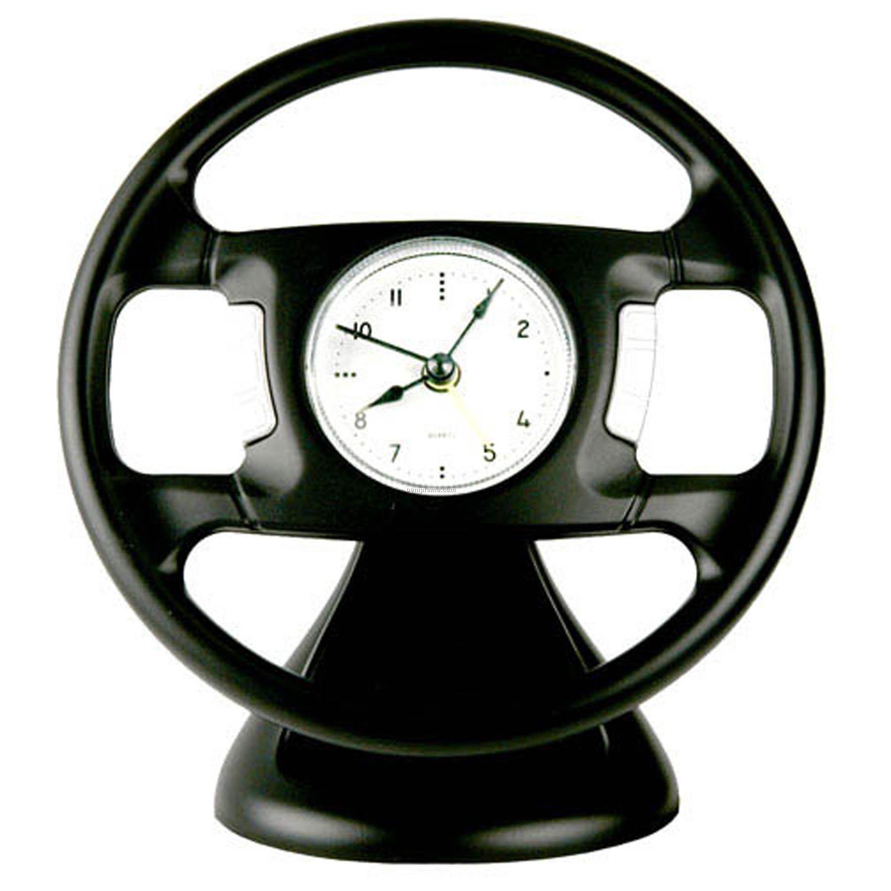 Desktop Steering Wheel Shape Alarm Clock