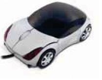 Full Size Sporty Car Shape Optical Mouse W/ Headlights
