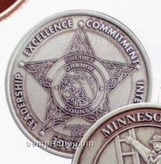 """1-9/16"""" 12 Gauge Nickel Silver Coins & Medallions"""