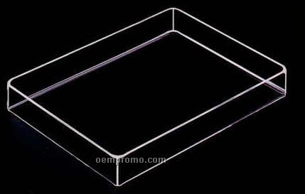 "Acrylic Rectangle Tray (12""X8""X2"")"