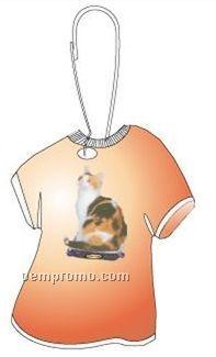 Calico Cat T-shirt Zipper Pull