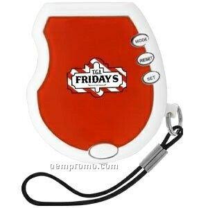 Pedometer W/ Flashlight & Panic Button - Red
