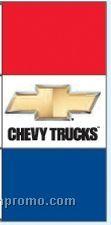 Single Face Dealer Free Flying Drape Flags - Chevy Trucks