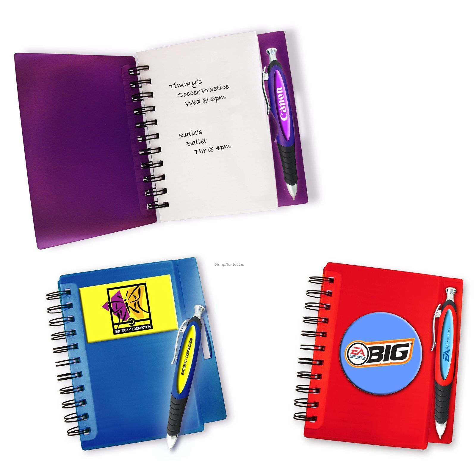 4-color Spiral Notebook With Matching 4-color Pen