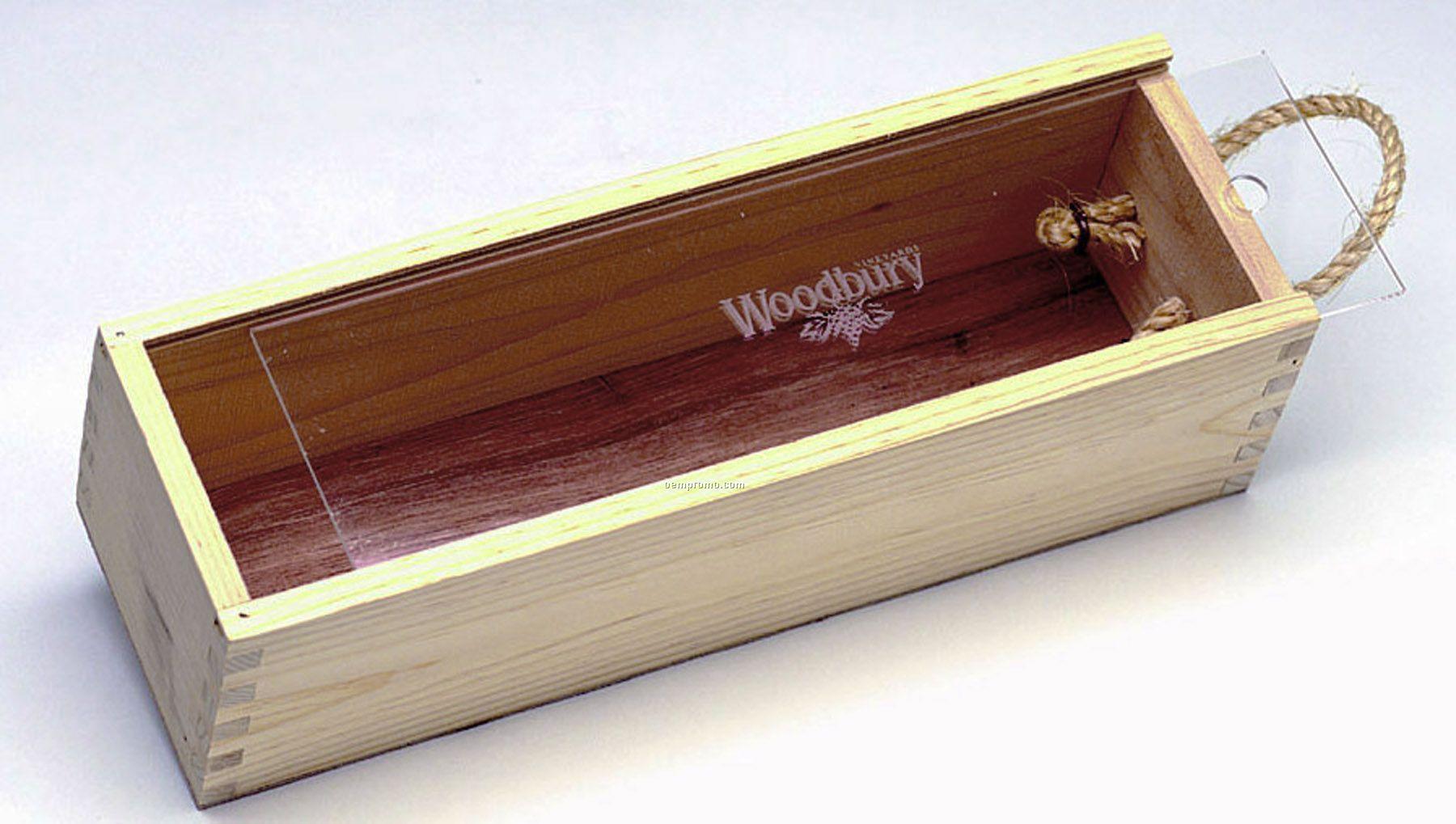 "Small Slider Box W/ Acrylic Lid (4 3/8""X13 7/8""X4"")"