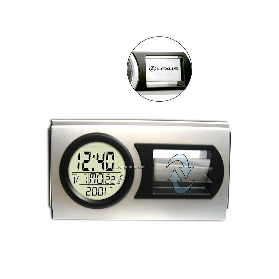 Swivel Pendulum Lcd Clock