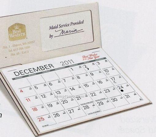 The Personalizer Warwick Premier Desk Calendar (January - April)