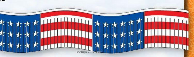 60' Americana Streamers W/ Alternating Stars & Striped Panels
