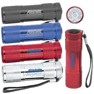 9-led Metal Compact Flashlight