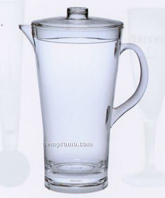Acrylic Contoured Pitcher With Lid (2 Quart)