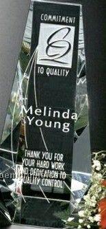 "Pristine Gallery Crystal Wedgewood Award (6"")"