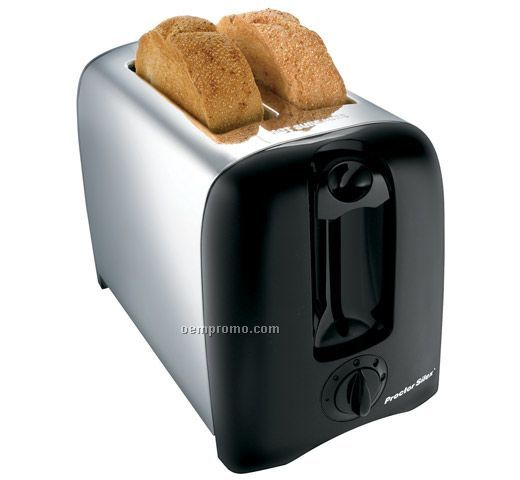 "12.13""X6.88""X8.25"" 2 Slice Classic Chrome Extra-wide Slot Toaster"
