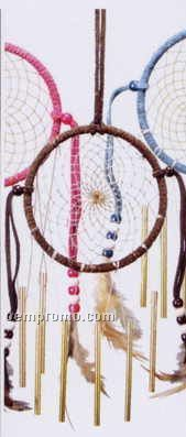 "4"" Dream Catcher Wind Chime/Assorted Colors"