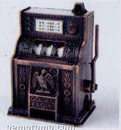 Early American Bronze Metal Pencil Sharpener - Slot Machine