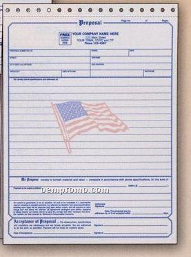 Proposal/ Acceptance Form W/ Flag Design (3 Part)