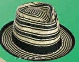 Striped Toyo Straw Golf Hat