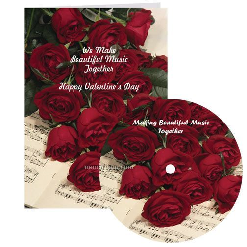Beautiful Music Together Valentine Card With Matching CD