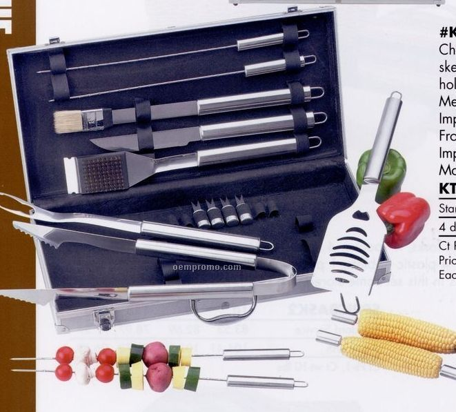Chefmaster 18-piece All Stainless Barbecue Set (Standard Service)