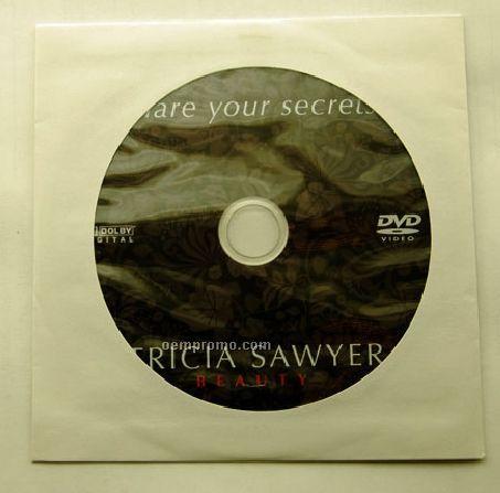 DVD Replication In White Paper Sleeve (DVD 9)