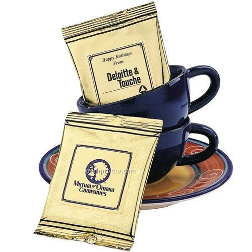 Instant Cappuccino W/ Gold Foil Packaging (Printed Label)