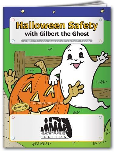Action Pack Book W/ Crayons & Sleeve - Halloween Safety With Gilbert Ghost