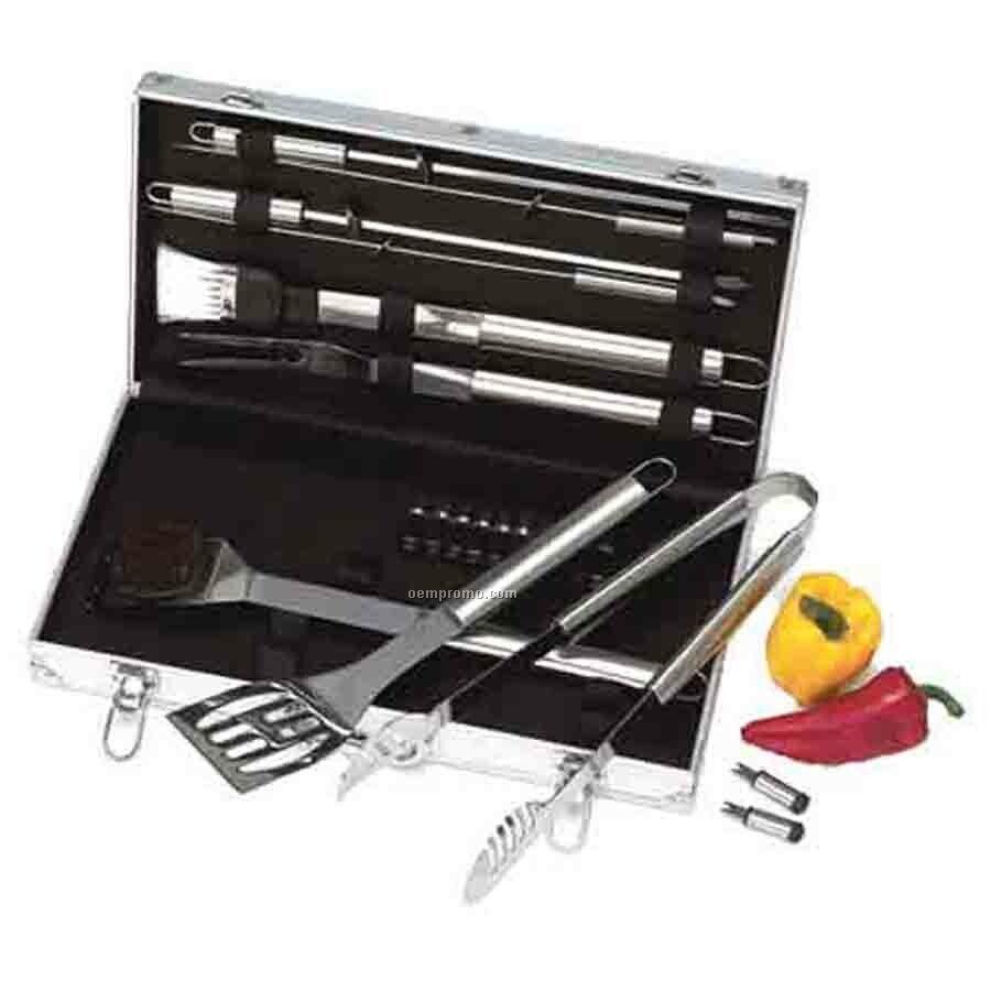 Chefmaster 22-piece Stainless Steel Barbecue Set (Standard)
